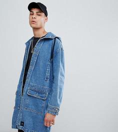 Синяя джинсовая куртка с капюшоном Sixth June эксклюзивно для ASOS - Синий