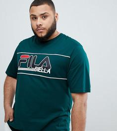 Зеленая футболка с логотипом Fila - Зеленый