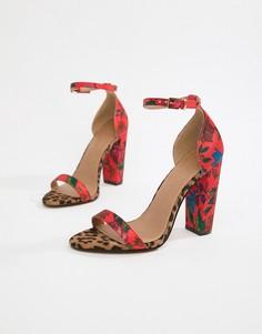 Босоножки на каблуке ASOS DESIGN Highball - Мульти