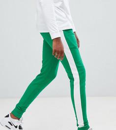 Зеленые джоггеры скинни с полосками по бокам ASOS DESIGN tall - Зеленый