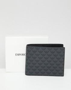Черный бумажник с логотипом Emporio Armani - Черный