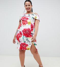 Платье-футляр с принтом Coast Plus - Белый