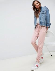 Джоггеры с кромкой манжетом ASOS DESIGN - Розовый