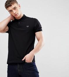 Черная узкая футболка-поло Fred Perry - Черный