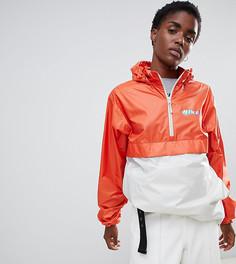 Оранжевая ветровка колор блок с логотипом Nike Sb - Оранжевый