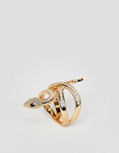 Золотистое кольцо с отделкой в виде змеи ALDO - Золотой