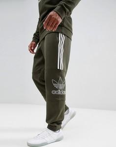 Зеленые трикотажные джоггеры adidas Originals Outline DH5792 - Зеленый