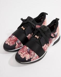 Черные кроссовки с цветочным принтом Ted Baker - Мульти
