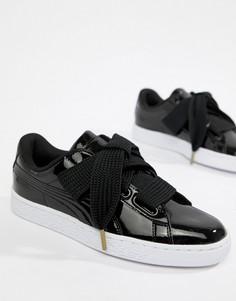 Лакированные кроссовки Puma Basket - Черный