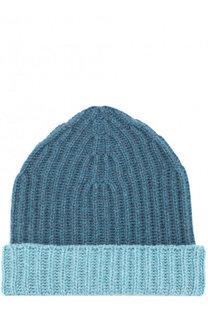Кашемировая шапка с контрастным отворотом Loro Piana