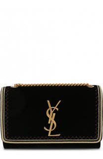 Сумка Monogram Kate small из бархата Saint Laurent