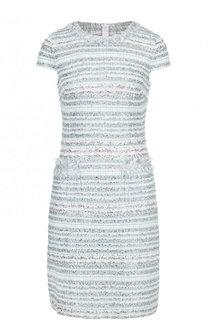 Вязаное платье с круглым вырезом и карманами St. John