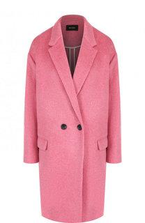 Однотонное пальто из смеси шерсти и кашемира Isabel Marant