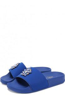 Шлепанцы с отделкой кристаллами Dolce & Gabbana