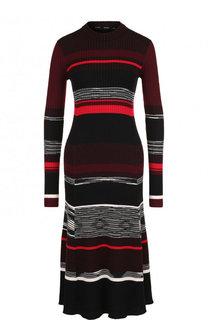 Вязаное платье-миди из смеси шерсти и шелка с кашемиром Proenza Schouler