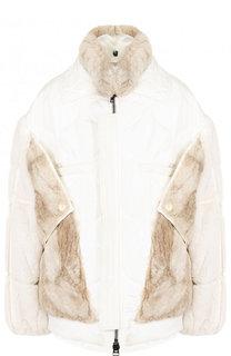 Шелковая куртка с меховой отделкой Tom Ford