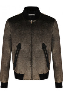 Хлопковая куртка на молнии Saint Laurent