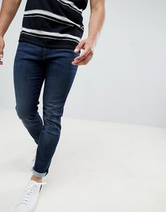 bd6c6968a6a Темные узкие джинсы стретч с 5 карманами Armani Exchange J13 - Темно-синий