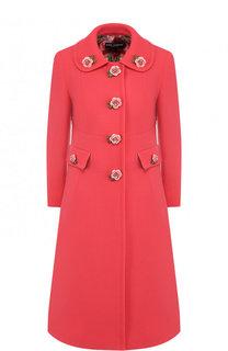 Шерстяное пальто с декоративными пуговицами Dolce & Gabbana