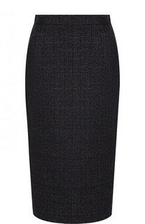 Вязаная юбка-миди с металлизированной нитью Escada