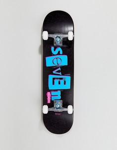 Скейтборд с принтом в стиле панк Seven Skates - 7.8 - Черный