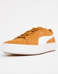 Желтые замшевые кроссовки Puma Breaker 36662501 - Желтый