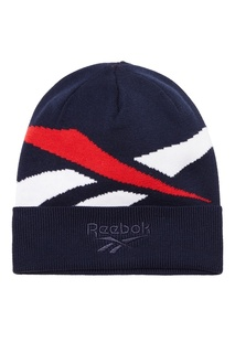 Синяя шапка с логотипом Reebok