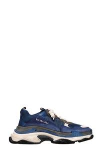 Синие кроссовки Triple S Balenciaga