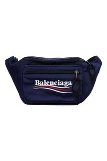 Синяя сумка на пояс Balenciaga