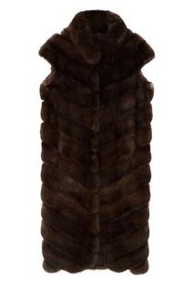 Жилет из меха соболя с воротником-стойкой Maison N20