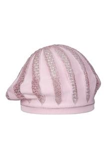 Розовый берет с ажурными вставками Jacote