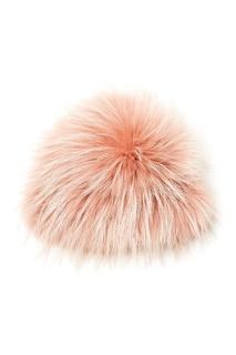 Розовая шапка из меха енота Maison N20