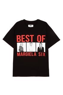 Черная футболка с принтом Mm6 Maison Margiela