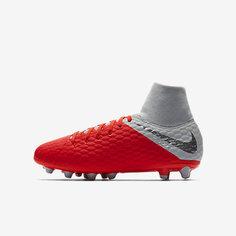 Футбольные бутсы для игры на искусственном газоне для  дошкольников школьников Nike Jr. Hypervenom Phantom 7e63ccecea2