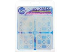 Аксессуар Антивибрационные подставки для стиральных машин Bon BN-610-1 Transparent