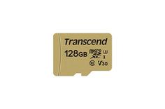 Карта памяти 128Gb - Transcend 500S MicroSDXC Class10 UHS-I U3 TS128GUSD500S