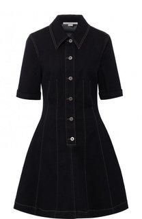 Приталенное джинсовое мини-платье на пуговицах Stella McCartney