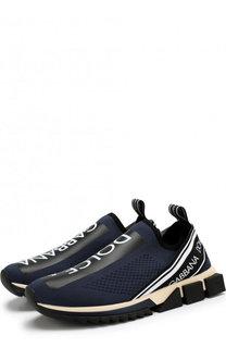 Текстильные кроссовки Sorrento с принтом Dolce & Gabbana