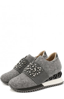 Текстильные кроссовки на платформе Le Silla