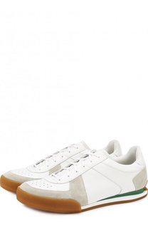 Комбинированные кроссовки на шнуровке Givenchy
