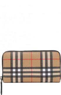 Кожаный бумажник в клетку Vintage Check Burberry