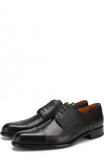 Кожаные дерби на шнуровке A. Testoni
