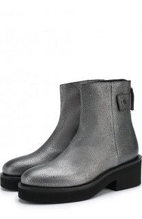 Кожаные ботинки из металлизированной кожи Vic Matie