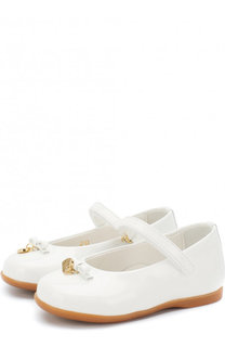Лаковые балетки с застежкой велькро Dolce & Gabbana