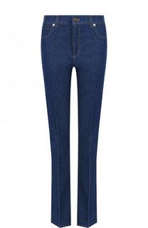 Расклешенные джинсы с контрастной прострочкой Escada