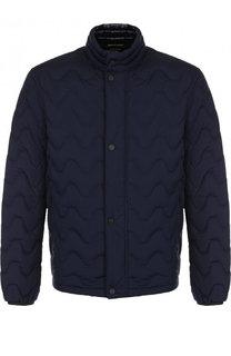 Стеганая куртка на молнии с воротником-стойкой Z Zegna
