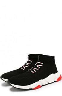 Текстильные кроссовки Speed Trainer на шнуровке Balenciaga