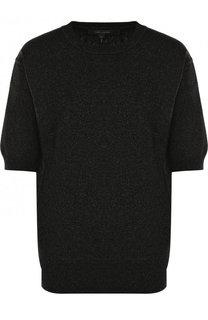 Пуловер с укороченным рукавом и металлизированной нитью Marc Jacobs