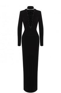 Приталенное платье-макси со шнуровкой Tom Ford