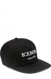 Хлопковая бейсболка с логотипом бренда Iceberg